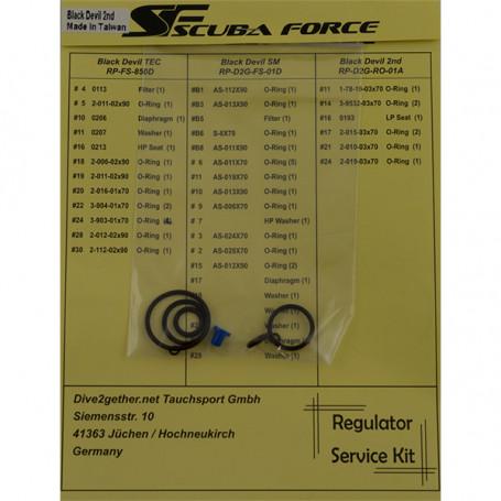 Kit Scuba Force de servicio para 2ª...