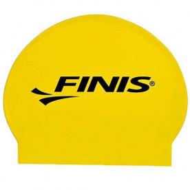 Gorro Silicona FINIS Big Logo Amarillo/Negro