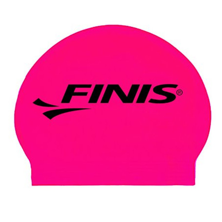 Gorro Silicona FINIS Big Logo Rosa/Negro